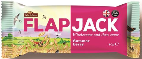 Wholebake Μπάρα βρώμης FLAPJACK Summer Berry 80gr