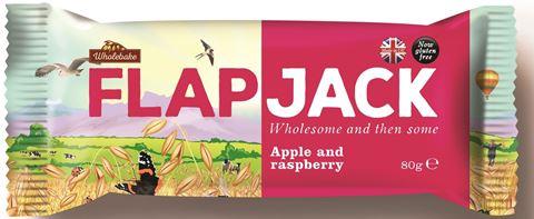 Wholebake Μπάρα βρώμης FLAPJACK Μήλο & Βατόμουρο 80gr