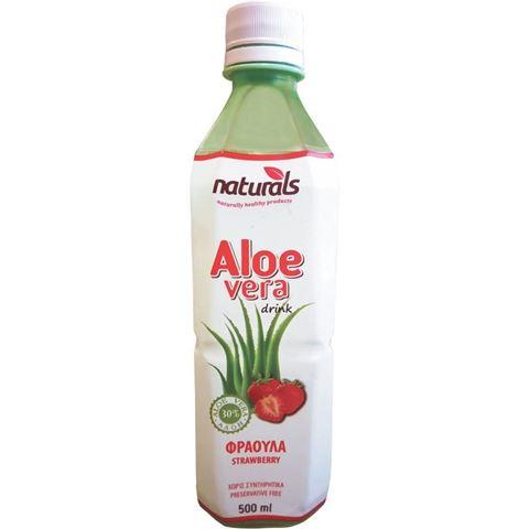 Naturals Aloe Vera με Γεύση Φράουλα Natural 30% Πολτός, 500ml