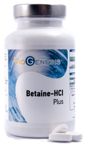 Viogenesis  Βetaine-HCl Plus 125 Ταμπλέτες