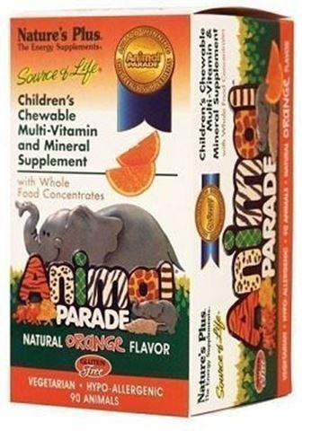 Nature's Plus Animal Parade 90 Μασώμενες Ταμπλέτες Πορτοκάλι