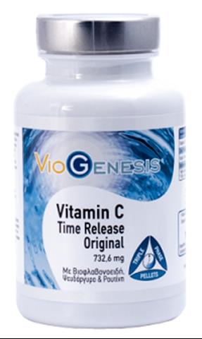 Viogenesis Vitamin C Time Release Triple Phase 120 Κάψουλες