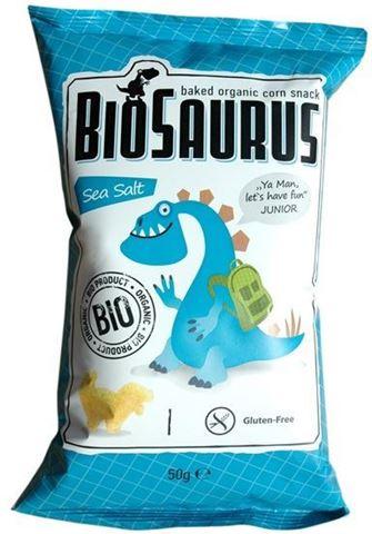 Biofresco Παιδικά Γαριδάκια Δεινόσαυρος με θαλασσινό αλάτι (χωρίς γλουτένη) 50gr