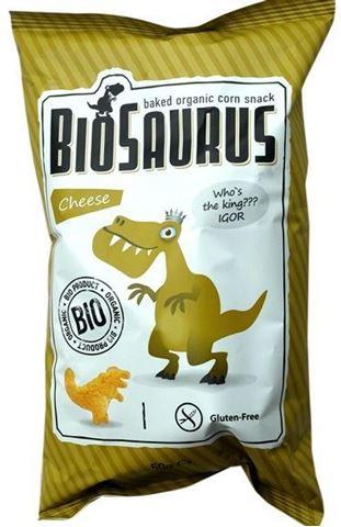 Biofresco Παιδικά γαριδάκια Δεινοσαύρος με τυρί (χωρις γλουτένη) 50gr