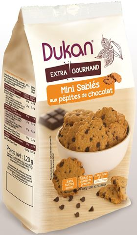 Dukan Μίνι Κουλουράκια βρώμης με κομμάτια σοκολάτας 120g