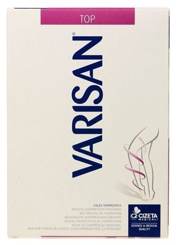Varisan Top Ριζομηρίου Κλάση I Ανοιχτά δάχτυλα - Μαύρο, Μέγεθος 3, 18-21mmHg