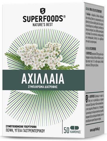 Superfoods Αχιλλαία 300mg, 50 Κάψουλες