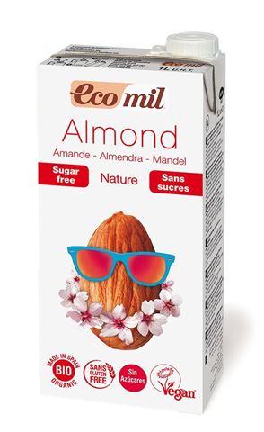 Ecomil Γάλα Αμυγδάλου Φυσικό Χωρίς Ζάχαρη 1lt