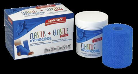 Bradex Elastus Ενεργό-συνεκτικοί, Ελαστικοί Επίδεσμοι για Ιατρικές & Αθλητικές Εφαρμογές Box includes 1x ELASTUS- active 7,5cmx4,6m and Elastus - HydroCool 6cmx3m