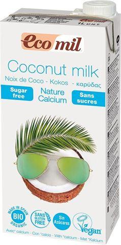 EcoMil Γάλα Καρύδας με Ασβέστιο 1lt