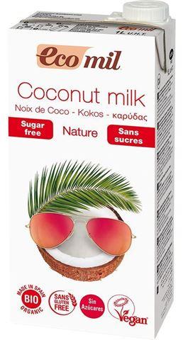 EcoMil Γάλα Καρύδας Φυσικό Χωρίς Ζάχαρη 1lt
