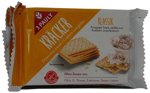 3 Pauly Κλασικά χωρίς γλουτένη Crackers 3 τεμάχια των 50γρ