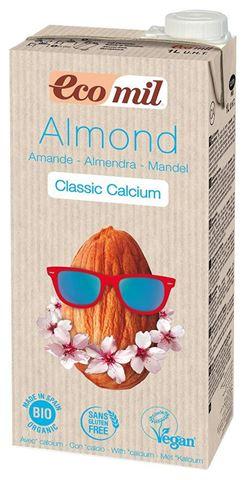 EcoMil Γάλα Αμυγδάλου με Φυσικό Ασβέστιο Με Ζάχαρη 1lt