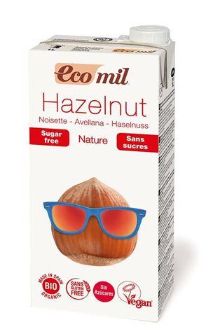 Ecomil Γάλα Φουντουκιού Φυσικό Χωρίς Σάκχαρα 1Lt