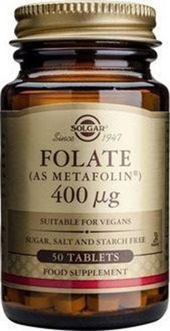 Solgar Folate as Metafolin 400mcg, 50 ταμπλέτες