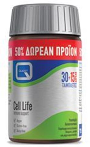 Quest Cell Life 30 + 15 Ταμπλέτες