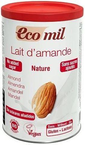 Ecomil Γάλα Βιολογικό Αμύγδαλο Σε Σκόνη Στιγμιαίο Χωρίς Ζάχαρη, 400gr
