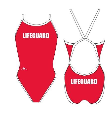 Afroturbo, Γυναικείο Μαγιό Woman Lifeguard M