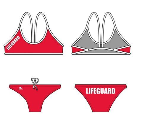 Afroturbo, Γυναικείο Μαγιό Woman Lifeguard L