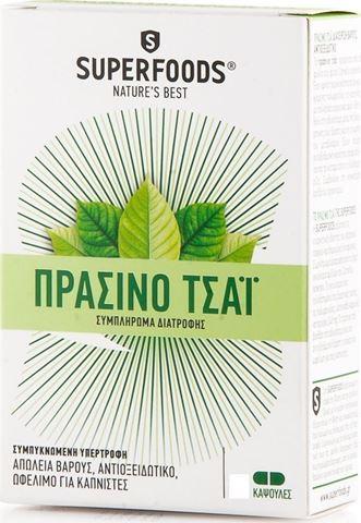 SuperFoods Πράσινο Τσάι 350mg, 30 Κάψουλες