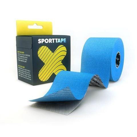 Sporttape Extra Sticky Ταινία Κινησιοπερίδεσης 5CM x 5M Blue