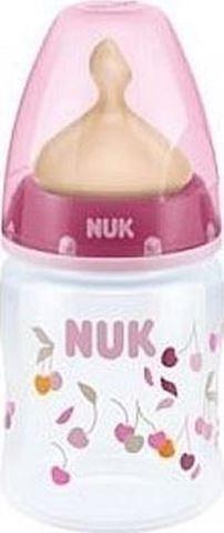 NUK First Choice+ ΡΡ Μπιμπερό 150ml Θηλή Καουτσούκ Μεγέθους 1, 0-6m, 10.743.570 Ροζ