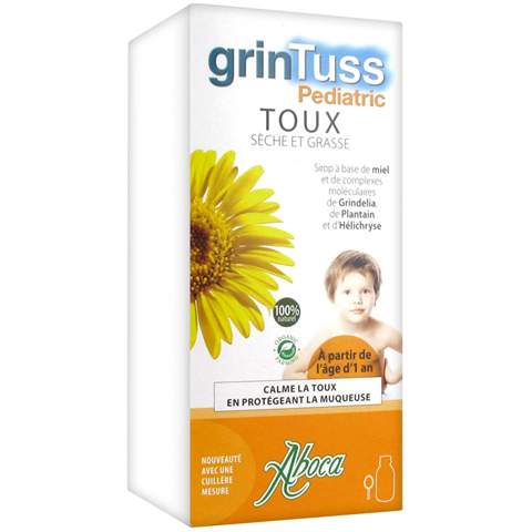 Aboca Grintuss Παιδικό Σιρόπι για το Βήχα 180GR