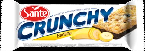 Sante Crunchy Τραγανή μπάρα Σοκολάτα & Μπανάνα 40gr