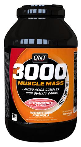 QNT 3000 Muscle Mass Γεύση Φράουλα, 4500γρ