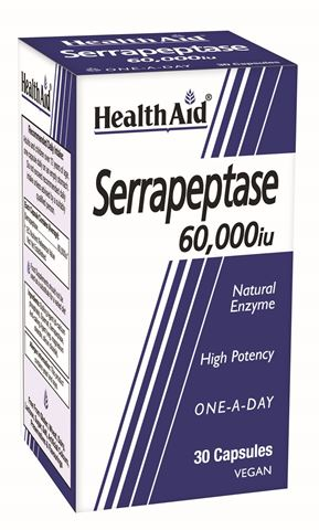 Health Aid Serrapeptase 60.000iu, 30 Κάψουλες