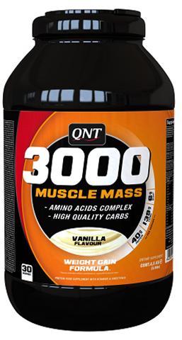 QNT 3000 Muscle Mass Γεύση Βανίλια, 4500γρ