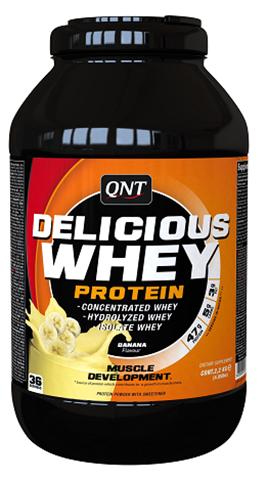 QNT Delicious Whey Protein Powder Γεύση Μπανάνα, 2200γρ
