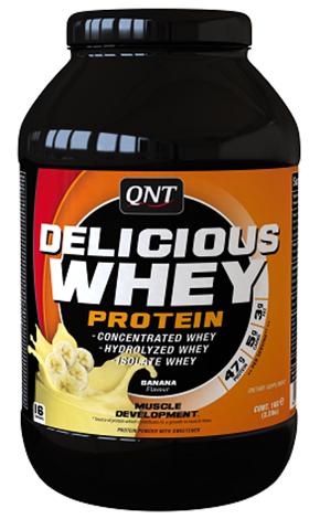 QNT Delicious Whey Protein Powder Γεύση Μπανάνα, 908γρ