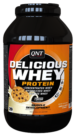 QNT Delicious Whey Protein Powder Cookies & Cream, 2200γρ