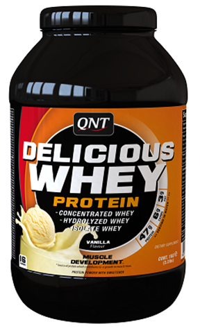 QNT Delicious Whey Protein Powder Βανίλια, 908γρ