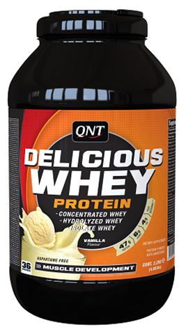 QNT Delicious Whey Protein Powder Γεύση Βανιλια, 2200γρ