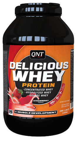 QNT Delicious Whey Protein Powder Γεύση Φράουλα, 2200γρ