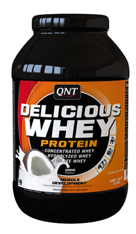 QNT Delicious Whey Protein Powder Coconut, 908γρ