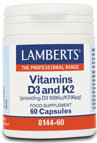 Lamberts Vitamin D3 1000iu & K2 90µg, 60 Κάψουλες