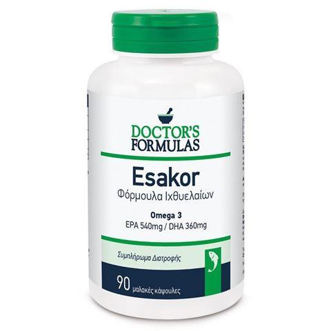 Doctor's Formulas Esakor Φόρμουλα Ιχθυελαίων 90 Μαλακές κάψουλες