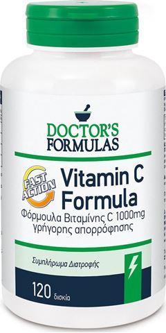 Doctor's Formulas Vitamin C 1000 Formula 120 Δισκία