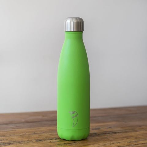 Chillys Neon Green Παγούρι από Ανοξείδωτο Ατσάλι 500ml