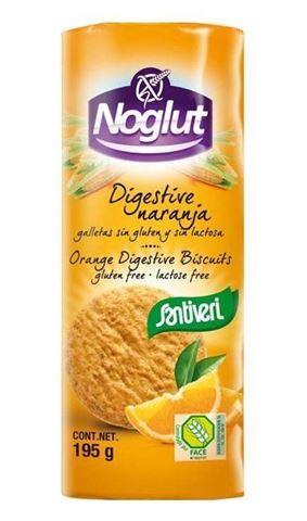 Santiveri Μπισκότα Digestive Πορτοκαλιού Χωρίς Γλουτένη 195gr
