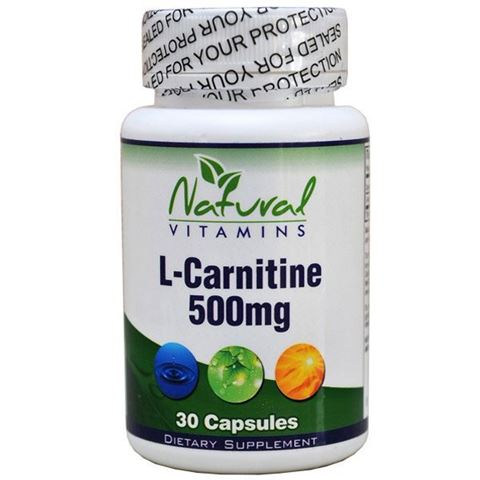 Natural Vitamins L-Carnitine - 500mg - 30 Κάψουλες