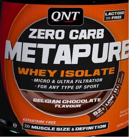 QNT Zero Carb Metapure Belgian Chocolate, 30gr