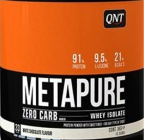 QNT Zero Carb Metapure White Chocolate, 30gr