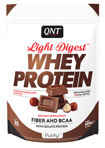 QNT Light Digest Whey Protein Hazelnut Chocolate, 40gr