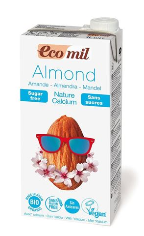 EcoMil Γάλα Αμυγδάλου με Φυσικό Ασβέστιο Χωρίς Ζάχαρη 1lt