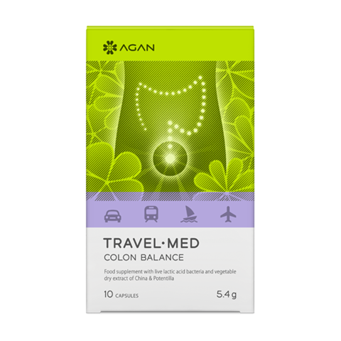 Agan Travel Med Colon Balance 10 Μασώμενες Ταμπλέτες