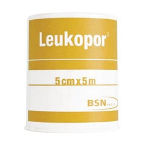 Leukopor Υποαλλεργική Επιδεσμική Ταινία - 5m x 5cm, 378318